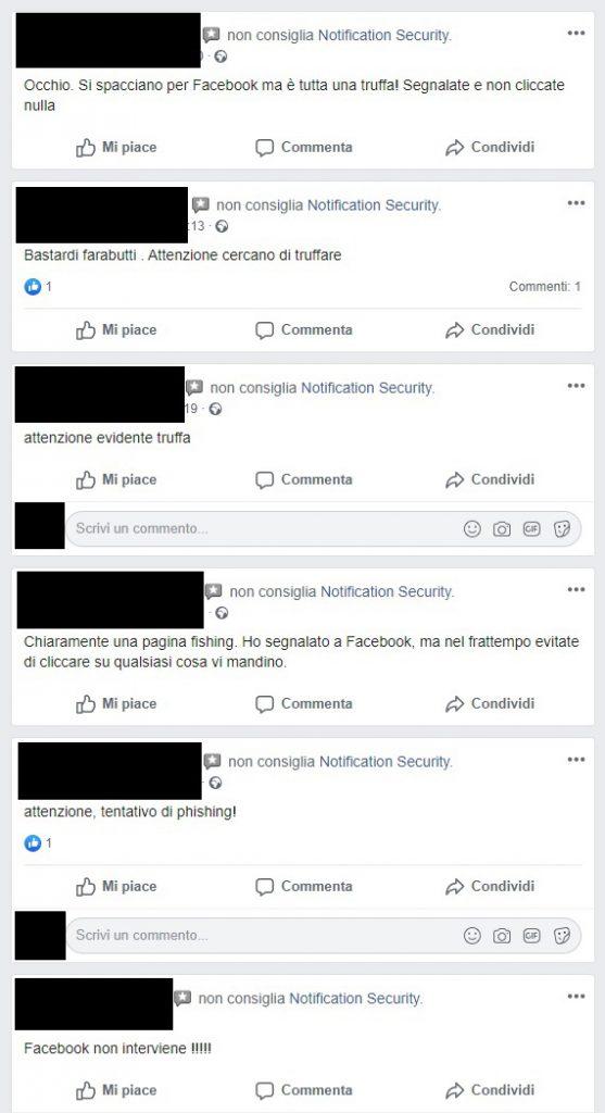 Truffa Pagina Facebook Recensioni