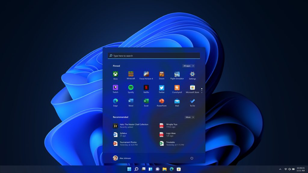 Interfaccia Grafica Windows 11